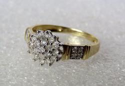 Csodás antik nagyméretű gyémántköves aranygyűrű 0,5 ct gyémánttal