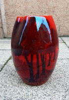 Zsolnay szecessziós  panorámaképes váza körbélyegzős