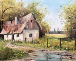 Alföldi tanya 1. - Eredeti KINVA festmény
