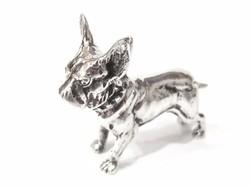 Ezüst miniatűr buldog ( Szeg-Bi31318)