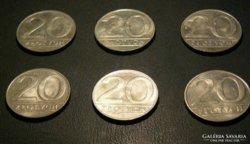 20 Zloty - Lengyelország - 1990. - 6 db.