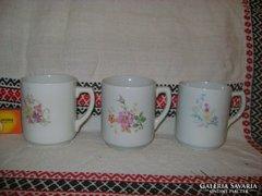 Drasche, virágos teás csésze - 3 darab