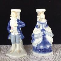 Barokk pár porcelán lámpatest