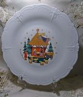 TIRSCHENREUTH BAVARIA BARONESSE csont fehér nagy tányér