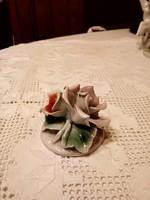 Jelzett porcelán rózsa