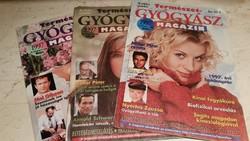 Természet- Gyógyász magazin 1997 év 3 db eladó!