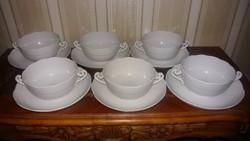 Herendi 6 db fehér leveses csésze