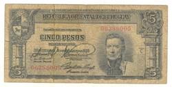 5 pesos 1939 Uruguay