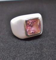 Különleges porcelán ezüstgyűrű