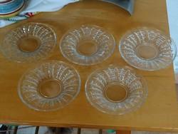 5db süteményes vagy salátás kistányér üveg tényér szett