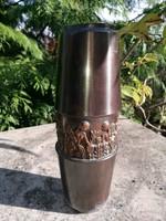 Lignifer copper vase