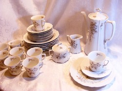 Hibátlan, 30 darabos Bavaria Tirschenreuth Baronesse mintájú porcelán ritkaság 9 személyes készlet