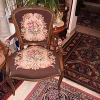 Kézigoblein barok-rokokko 4 db karos szék