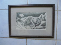 Pasztell kép keretben