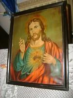 Régi képkeret szent képpel