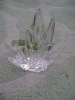 Igen súlyos Hegyikristály dísztárgy kristályüvegből 1340 gramm, jelzett