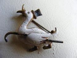 Cilinderes kacsa bross kitűző
