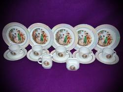 Ilmenau Graf von Henneberg Porzellan 1777 5 személyes aranyozott porcelán kávéskészlet 1949 - 1973
