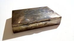Ezüst cigarettatartó, dohánytartó doboz, Diannás Magyar fémjeles, ezüst 497 gramm
