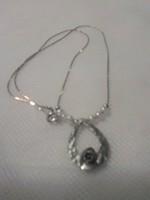 Izraeli ezüst nyaklánc és medál gyönggyel