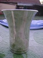 Antik ezüstözött v,stúdió kehely váza nagy méretben .