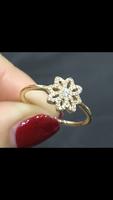 """Eredeti Pandora arany gyűrű """"Csipkevirág"""""""