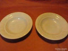 2 db régi Zsolnay mély tányér