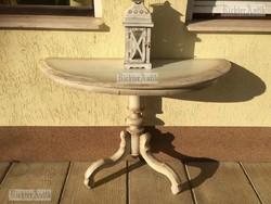 Provence bútor, antikolt póklábú konzol asztal 01.