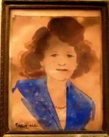 Pállya Celesztin: Kislány portré