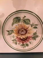 Iro01  Kézzel festett csodás Ulmer keramik fali tányér fali tál 30 cm