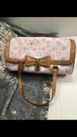 Louis Vuitton Papillon cseresznye virágos bőrtáska