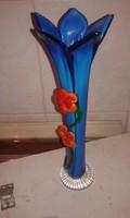 Nagyon szép kék üveg váza