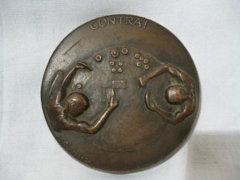 0123 D2 Michael Meszaros bronz plakett CONTRA!