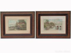 1017 R1 Antik faragott képkeret párban 70 x 50 cm