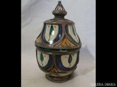 1194 G4 Antik habán jellegű fajansz kerámia edény