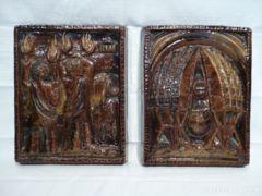 1365 A3 Régi Zákány Eszter kerámia plakett párban
