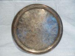 2638 B4 Antik HACKER alpakka tálca LUKÁCS 30 cm