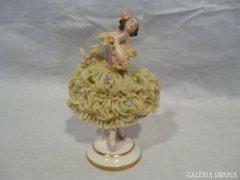 4779 K10 Antik Volkstedter porcelán balerina 12 cm