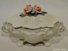 0350 Nagyméretű ENS rózsás bonbonier
