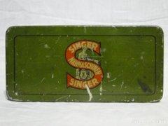 0489 Antik SINGER 15 fémdoboz pléh doboz