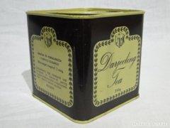 0498 Antik DARJEELING teás fémdoboz pléh doboz
