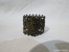 3804 Antik bronz szalvéta tartó karika