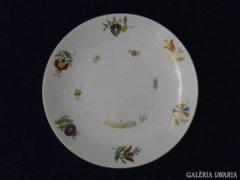 8632 Különleges Herendi porcelán dísztányér