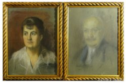 6160 Balogh Margit portré páros férj feleség