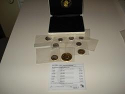 2004 Magyarország VIP ezüst Euro érmekollekció díszdobozban