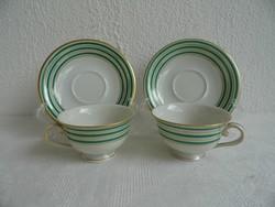 Herendi retro porcelán modern mokkás csésze pár 1955 hibátlan állapotban