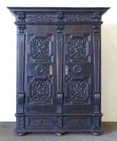 0N579 Antik hatalmas barokk szekrény 1668-ból
