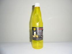 Retro OLYMPOS natur citromlé üdítő - papír címke, műanyag palack - 1983-as