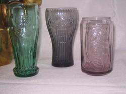 Régebbi színes Coca Colás poharak darabra
