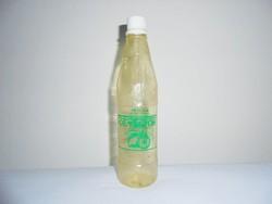 Retro OLYMPOS lemon juice citromlé üdítő üdítős üveg - festett címke, műanyag palack - 1978-as